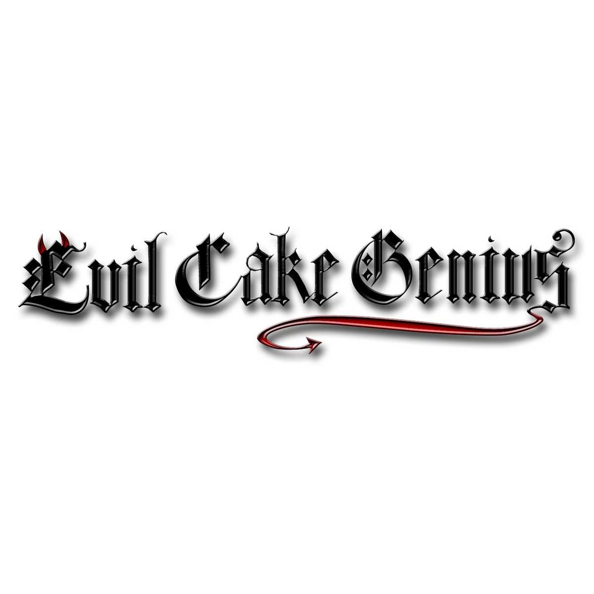 Cartoon Alphabet Mesh Stencil Set Evil Cake Genius