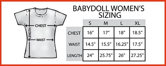 Babydoll Women's Sizing Chart