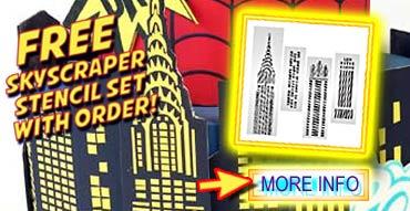 Free Skyscraper Stencil Set