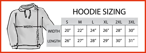 Hoodie Sizing Chart