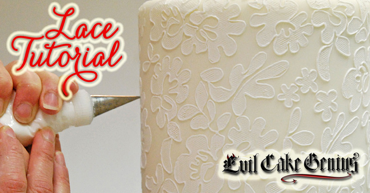 lace templates for cakes - evil cake genius lace stencil tutorial