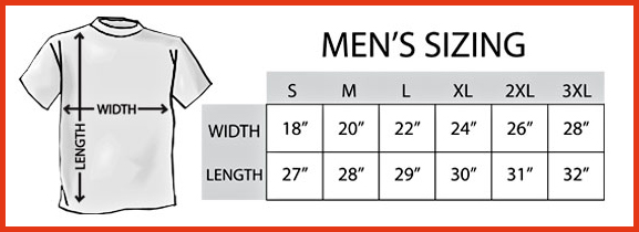 Men's T-Shirt Sizing Chart
