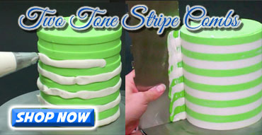 Two Tone Stripe Contour Combs