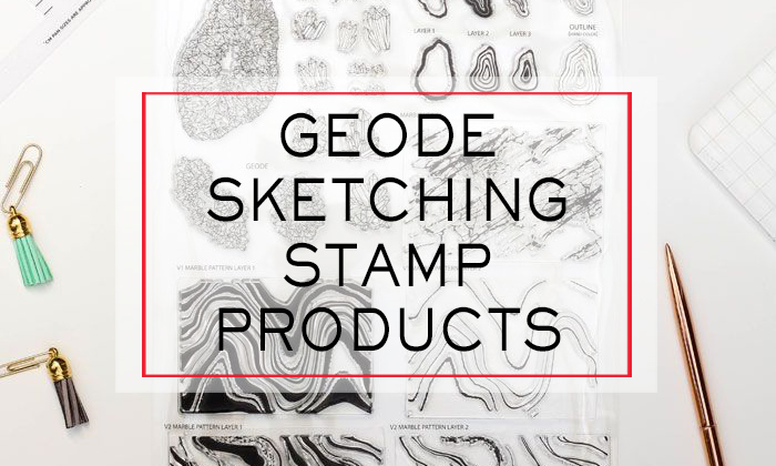 Geode Sketching Stamp Matching Products