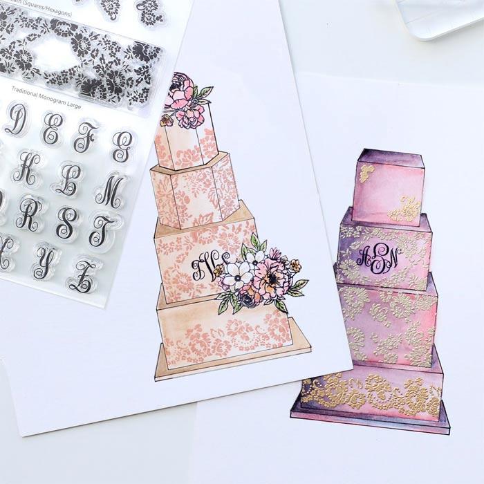 Cake Sketching Stamp Stencils