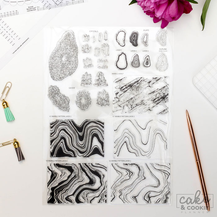 Geode Sketching Stamp Products