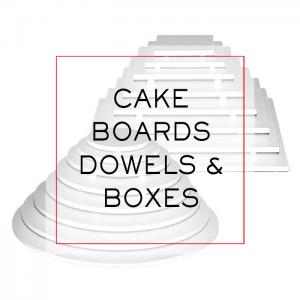 Cake Boards, Dowels, and Boxes