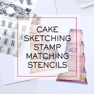 Cake Sketching Stamp Matching Stencils