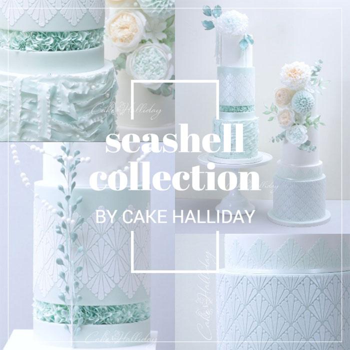 Cake Halliday Seashell Stencils