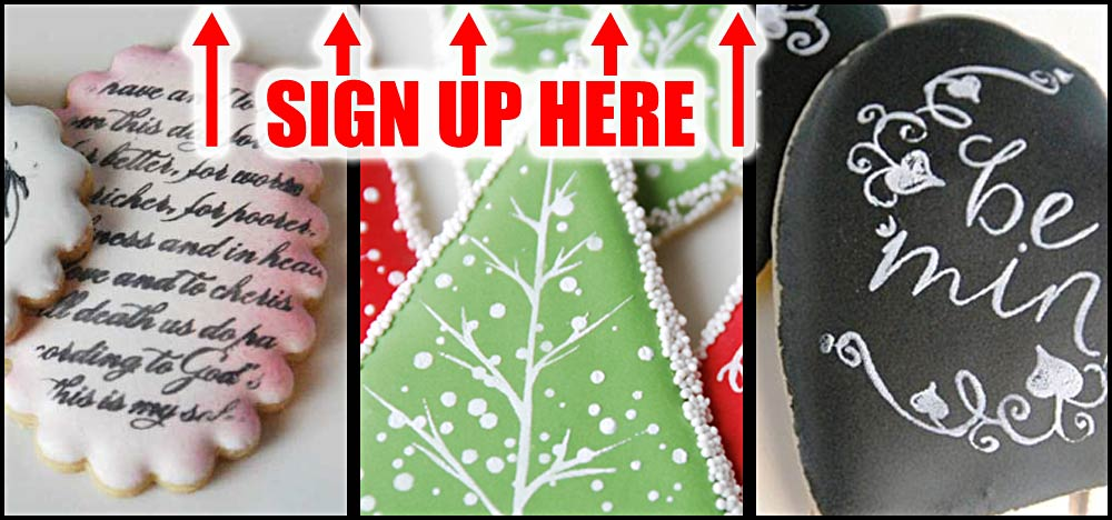 Cookie Tutorial Newsletter Sign Up