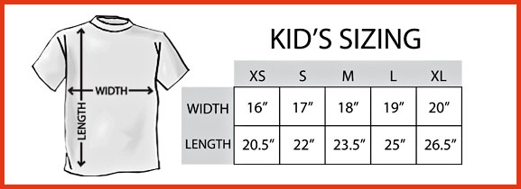 Kids T-Shirt Sizing Chart