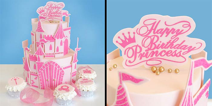 Princess Castle Cake Stencils