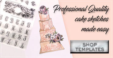 Shop Cake Sketching Templates & Stamps!