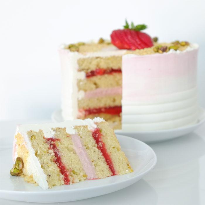Strawberry Pistachio Cake