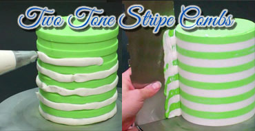 Two Tone Stripe Contour Combs